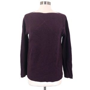 Madewell Assembly Pullover Purple Wool Sweater